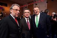 11 JAN 2010, KOELN/GERMANY:<br /> Frank Stoehr (L), 1. Vorsitzender Tarifunion, Dr. Thomas de Maiziere (M), CDU, Bundesinnenminister, Peter Heesen (R), Bundesvorsitzender Deutscher Beamtenbund, Jahrestagung &quot;Europa nach Lissabon - Fit fuer die Zukunft?&quot;, Messe Koeln<br /> dbb Jahrestagung &quot;Europa nach Lissabon - Fit fuer die Zukunft?&quot;, Messe Koeln<br /> IMAGE: 20100111-01-059<br /> KEYWORDS: Frank St&ouml;hr
