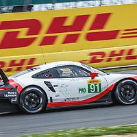 #91, Porsche Motorsport, Porsche 911 RSR (2017), driven by Richard Lietz, Frederic Makowiecki during  at FIA WEC 6 Hours of Silverstone 2017, Silverstone International Circuit, on 16.04.2017