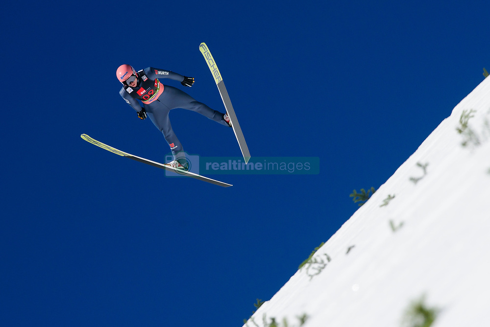 March 23, 2019 - Planica, Slovenia - Karl Geiger of Germany in action during the team competition at Planica FIS Ski Jumping World Cup finals  on March 23, 2019 in Planica, Slovenia. (Credit Image: © Rok Rakun/Pacific Press via ZUMA Wire)