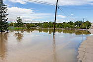September 13, 2013: Alkire Street and the Youth Memorial Sports Complex in Arvada, CO disappeared under water as a small creek overflows its banks after record breaking rains hit Colorado over the last few days