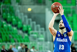 Mirza Sarajlija of Rogaska during basketball match between KK Petrol Olimpija and KK Rogaska in Round #5 of Liga Nova KBM za prvaka 2018/19, on March 31, 2019, in Arena Stozice, Ljubljana, Slovenia. Photo by Masa Kraljic / Sportida