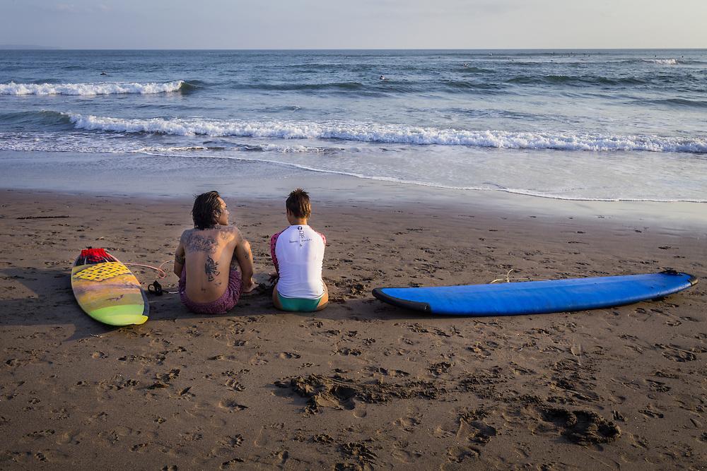 Scenes at Batubolong beach, Canggu.