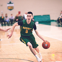 3rd year guard, Benjamin Hillis (8) of the Regina Cougars during the Men's Basketball Home Game on Sat Dec 01 at Centre for Kinesiology,Health and Sport. Credit: Arthur Ward/Arthur Images