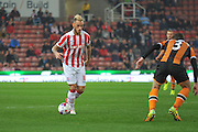 Stoke City forward Marko Arnautovic  on the attack during the EFL Cup match between Stoke City and Hull City at the Britannia Stadium, Stoke-on-Trent, England on 21 September 2016. Photo by John Marfleet.