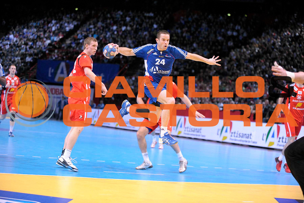 DESCRIZIONE : France Tournoi international Paris Bercy Equipe de France Homme France Islande 17/01/2010<br /> GIOCATORE : Ostertag Sebastien<br /> SQUADRA : France<br /> EVENTO : Tournoi international Paris Bercy<br /> GARA : France Islande<br /> DATA : 17/01/2010<br /> CATEGORIA : Handball France Homme Action selection<br /> SPORT : HandBall<br /> AUTORE : JF Molliere par Agenzia Ciamillo-Castoria <br /> Galleria : France Hand Homme 2009/2010  <br /> Fotonotizia : France Tournoi international Paris Bercy Equipe de France Homme France Islande 17/01/2010 <br /> Predefinita :