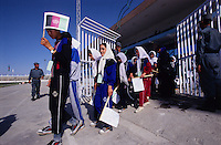ASPECIAL OLYMPICS AFGHANISTAN..Kabul, 23 August 2005..Athletes enter Ghazi Stadium
