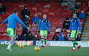 Forest Green Rovers Mark Roberts(21) warming up during the EFL Sky Bet League 2 match between Grimsby Town FC and Forest Green Rovers at Blundell Park, Grimsby, United Kingdom on 9 December 2017. Photo by Paul Thompson.