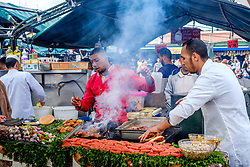 Food stall in the Jemaa El Fna, Marrakech, Morocco, North Africa<br /> <br /> (c) Andrew Wilson   Edinburgh Elite media