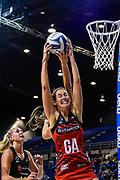 Kate Beveridge of the Tactix takes a ball during the ANZ Premiership Netball match, Tactix V Magic, Horncastle Arena, Christchurch, New Zealand, 6th June 2018.Copyright photo: John Davidson / www.photosport.nz