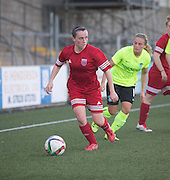 Forfar Farmington (red) v Hibernian Ladies in the Scottish Womens' Premier League at Station Park, Forfar. Photo: David Young<br /> <br />  - &copy; David Young - www.davidyoungphoto.co.uk - email: davidyoungphoto@gmail.com
