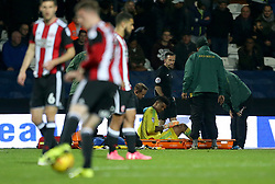 Sheffield United goalkeeper Jamal Blackman receive media attention during the game during the Sky Bet Championship match at Loftus Road, London.