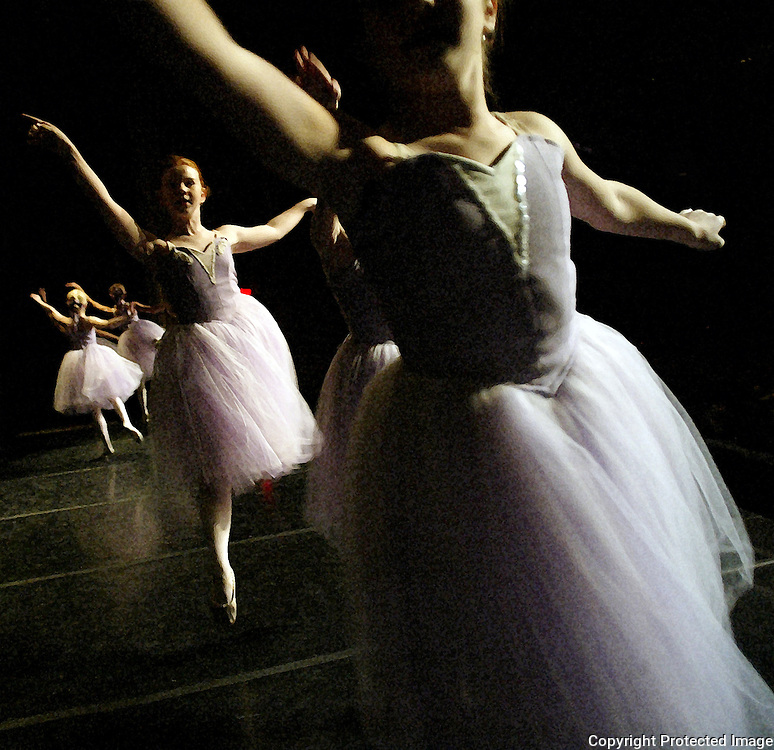 "Young dancers perform the ""Dance of the Sugar Plums"" during the Nutcracker ballet in Des Moines, Iowa."