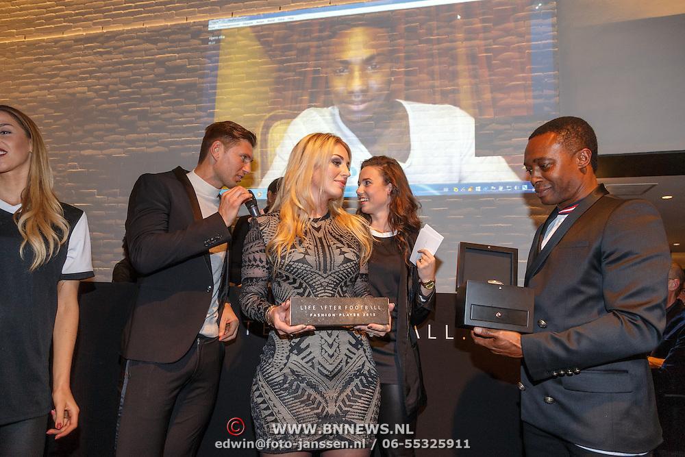 NLD/Amsterdam/20151110 - Life After Football Award 2015, Gwen van Poorten, Evgeniy Levchenko, Regi Blinker en Sanne Elia - Hoogkramer