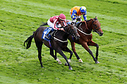 BAGHDAD (1) ridden by jockey William Buick and trained by Mark Johnston winning The 71M Supports Cystic Fibrosis Care Handicap Stakes over 1m 4f (£20,000)  at the York Dante Meeting at York Racecourse, York, United Kingdom on 18 May 2018. Picture by Mick Atkins.