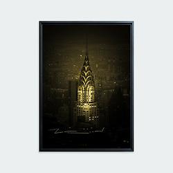 Chrysler Building, New York • Original photographic work by Antoine Duhamel • Direct print on brushed brass.