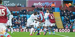 BIRMINGHAM, ENGLAND - Sunday, February 14, 2016: Liverpool's Kolo Toure scores the sixth goal against Aston Villa during the Premier League match at Villa Park. (Pic by David Rawcliffe/Propaganda)