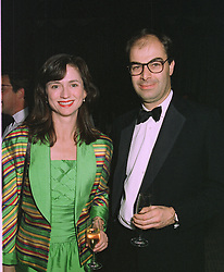 VISCOUNT & VISCOUNTESS MACKINTOSH OF HALIFAX at a dinner in London on October 20th 1997.MCH 12