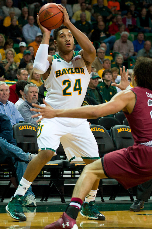 WACO, TX - NOVEMBER 12: Ish Wainright #24 of the Baylor Bears brings the ball up court against the South Carolina Gamecocks on November 12, 2013 at the Ferrell Center in Waco, Texas.  (Photo by Cooper Neill/Getty Images) *** Local Caption *** Ish Wainright