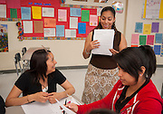 Esther Galo teaches her AP Spanish Literature class at Westbury High School, May 9, 2013.