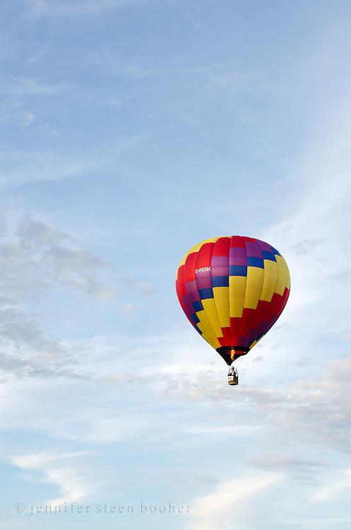 'Wicked' in flight, Crown of Maine Balloon Fair, Presque Isle, Maine.