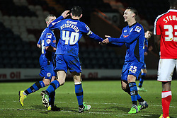 Rochdale's Ian Henderson celebrates after scoring his sides third goal - Photo mandatory by-line: Matt McNulty/JMP - Mobile: 07966 386802 - 03/03/2015 - SPORT - football - Rochdale - Spotland Stadium - Rochdale v Crewe Alexandra - Sky Bet League One