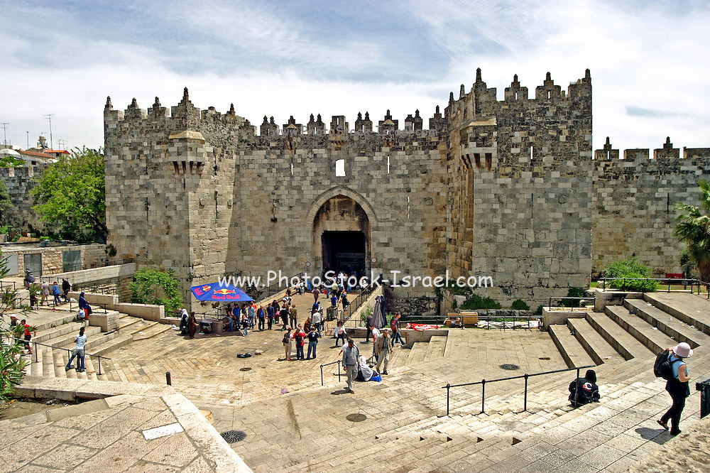 Israel old city of Jerusalem The Damascus Gate