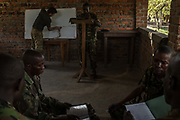 Abiba Angado, 32, translates for trainers from the Endangered Species Protection Agency during training at Garamba National Park Headquarters on November 27, 2017.