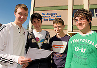 Bish Boys...Colm Keaveney, Murrough, Brian Greally , Moycullen Colum Leen,Moycullen  Paul Carthy Barna,  who were all delighted with their results ion the leaving Certificate. Photo:Andrew Downes