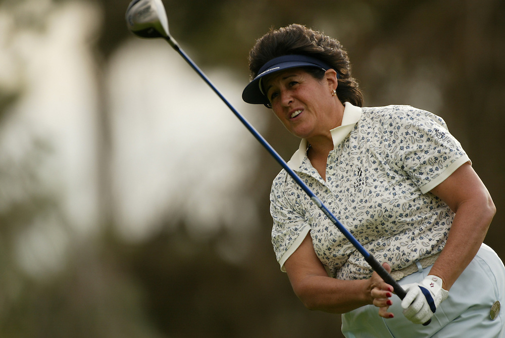 Nancy Lopez..LPGA Welch's Fry's Championship.First Round.Dell Urich Course at Randolph Park.Tucson, AZ.Thursday, March 11 2004..photograph by Darren Carroll