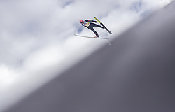 02.03.2019, Seefeld, AUT, FIS Weltmeisterschaften Ski Nordisch, Seefeld 2019, Skisprung, Mixed Team, Probesprung, im Bild Karl Geiger of Germany // Karl Geiger of Germany during the trial jump in the mixed team competition in ski jumping of nordic combination of FIS Nordic Ski World Championships 2019. Seefeld, Austria on 2019/03/02. EXPA Pictures © 2019, PhotoCredit: EXPA/ JFK