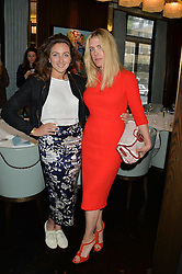 Left to right, NATASHA CORRETT and FIONA LEAHY at the 'Ladies of Influence Lunch' held at Marcus, The Berkeley Hotel, London on 12th May 2014.