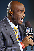 NFL Network football analyst Deion Sanders talks about the upcoming Jacksonville Jaguars NFL week 14 football game against the Houston Texans on Thursday, Dec. 5, 2013 in Jacksonville, Fla. The Jaguars won the game 27-20. ©Paul Anthony Spinelli