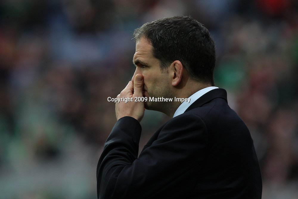 Martin Johnson the England team manager before the match. Ireland v England, 6 Nations Rugby Championship, Rugby Union, Croke Park, Dublin, 28/02/2009 © Matthew Impey/Wiredphotos.co.uk. tel: 07789 130 347 email: matt@wiredphotos.co.uk