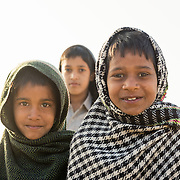 Group of children outside village of Chandelao, Rajasthan