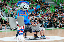 Mascot Globie at The Harlem Globetrotters Show, on May 26, 2011 in SRC Stozice, Slovenia. (Photo by Matic Klansek Velej / Sportida)