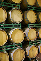 10 September 2006:  Wine stored in barrels Temecula, California.  Stock Photo