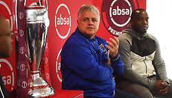 Cape Town-180913- .Cape Town City FC chairman John Cimitis being interviewed by psl head of communications Lux September about the upcoming game against Kaizer Chiefs.This was during the Woza nazo Absa premiership press conference at the Raddison Red in Waterfront.Photographs:Phando Jikelo/African News Agency/ANA