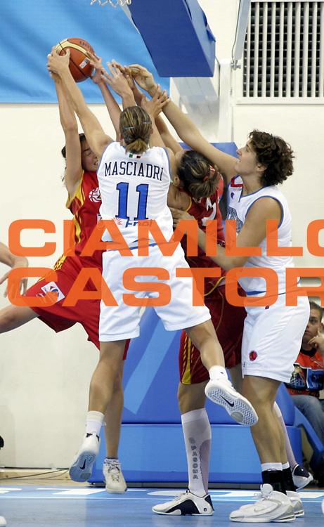 DESCRIZIONE : Ortona Italy Italia Eurobasket Women 2007 Italia Spagna Italy Spain <br /> GIOCATORE : Raffaella Masciadri <br /> SQUADRA : Nazionale Italia Donne Femminile <br /> EVENTO : Eurobasket Women 2007 Campionati Europei Donne 2007 <br /> GARA : Italia Spagna Italy Spain <br /> DATA : 29/09/2007 <br /> CATEGORIA : Difesa <br /> SPORT : Pallacanestro <br /> AUTORE : Agenzia Ciamillo-Castoria/H.Bellenger <br /> Galleria : Eurobasket Women 2007 <br /> Fotonotizia : Ortona Italy Italia Eurobasket Women 2007 Italia Spagna Italy Spain <br /> Predefinita :