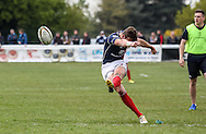 Peter Lydon scores a conversion during the Green King IPA Championship Play-Off match between London Scottish &amp; Worcester at Richmond, Greater London on Saturday 2nd May 2015<br /> <br /> Photo: Ken Sparks | UK Sports Pics Ltd<br /> London Scottish v Worcester, Green King IPA Championship, 2nd May 2015<br /> <br /> &copy; UK Sports Pics Ltd. FA Accredited. Football League Licence No:  FL14/15/P5700.Football Conference Licence No: PCONF 051/14 Tel +44(0)7968 045353. email ken@uksportspics.co.uk, 7 Leslie Park Road, East Croydon, Surrey CR0 6TN. Credit UK Sports Pics Ltd