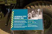 Information panel 4x4 Bedford QL Type M machinery truck, REME museum, MOD Lyneham, Wiltshire, England, UK