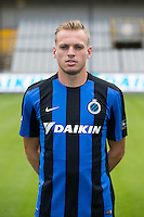 Club's Laurens De Bock poses for the photographer during the 2015-2016 season photo shoot of Belgian first league soccer team Club Brugge, Friday 17 July 2015 in Brugge