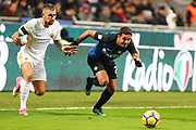 Aleksandar Kolarov of AS Roma and Eder of Inter during the Italian championship Serie A football match between FC Internazionale and AS Roma on January 21, 2018 at Giuseppe Meazza stadium in Milan, Italy - Photo Morgese - Rossini / ProSportsImages / DPPI