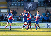 20th January 2018, Dens Park, Dundee, Scotland; Scottish Cup fourth round, Dundee versus Inverness Caledonian Thistle; Inverness Caledonian Thistle's Aaron Doran is congratulated after scoring