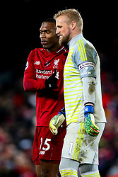 Daniel Sturridge of Liverpool and Kasper Schmeichel of Leicester City shake hands - Mandatory by-line: Robbie Stephenson/JMP - 30/01/2019 - FOOTBALL - Anfield - Liverpool, England - Liverpool v Leicester City - Premier League