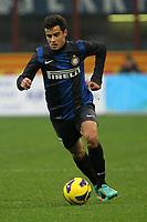 """Philippe Coutinho Inter.Milano 02/12/2012 Stadio """"San Siro"""".Football Calcio Serie A 2012/13.Inter v Palermo.Foto Insidefoto Paolo Nucci."""