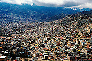 La Paz, capital of Bolivia, from the city outskirts.