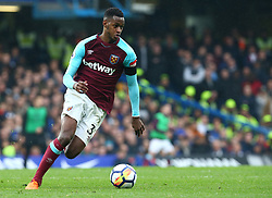 April 8, 2018 - London, England, United Kingdom - West Ham United's Edimilson Fernandes.during English Premier League match between Chelsea and West Ham United at Stamford Bridge, London, England on 08 April 2018. (Credit Image: © Kieran Galvin/NurPhoto via ZUMA Press)