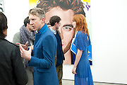 JEFFERSON HACK; FLORENCE WELCH;, Richard Phillips, Most Wanted. Private view at White Cube. Hoxton Sq. London. 27 January 2011, -DO NOT ARCHIVE-© Copyright Photograph by Dafydd Jones. 248 Clapham Rd. London SW9 0PZ. Tel 0207 820 0771. www.dafjones.com.