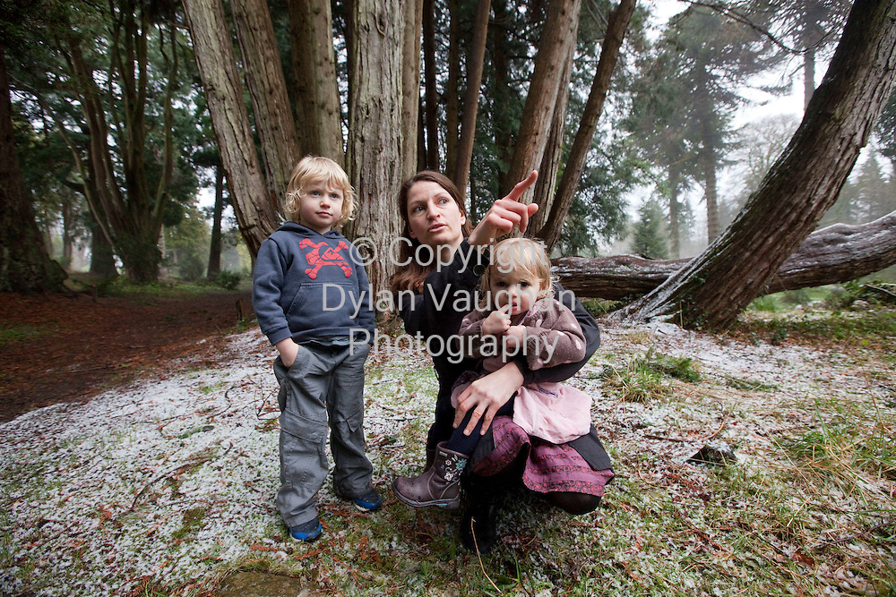 8/2/2009.Tanya Raab picture with her kids Ben aged 4 and Robin aged 2 at Woodstock Gardens and Arboretum in Kilkenny..Picture Dylan Vaughan.