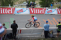 Christine Majerus (LUX) of Boels-Dolmans Cycling Team reaches the final meters of La Course 2017 - a 67.5 km road race, from Briancon to Izoard on July 20, 2017, in Hautes-Alpes, France. (Photo by Balint Hamvas/Velofocus.com)